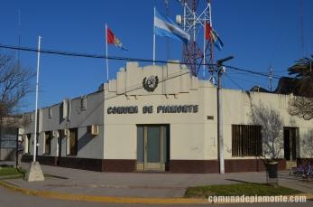 Frente del edificio de la Comuna de Piamonte