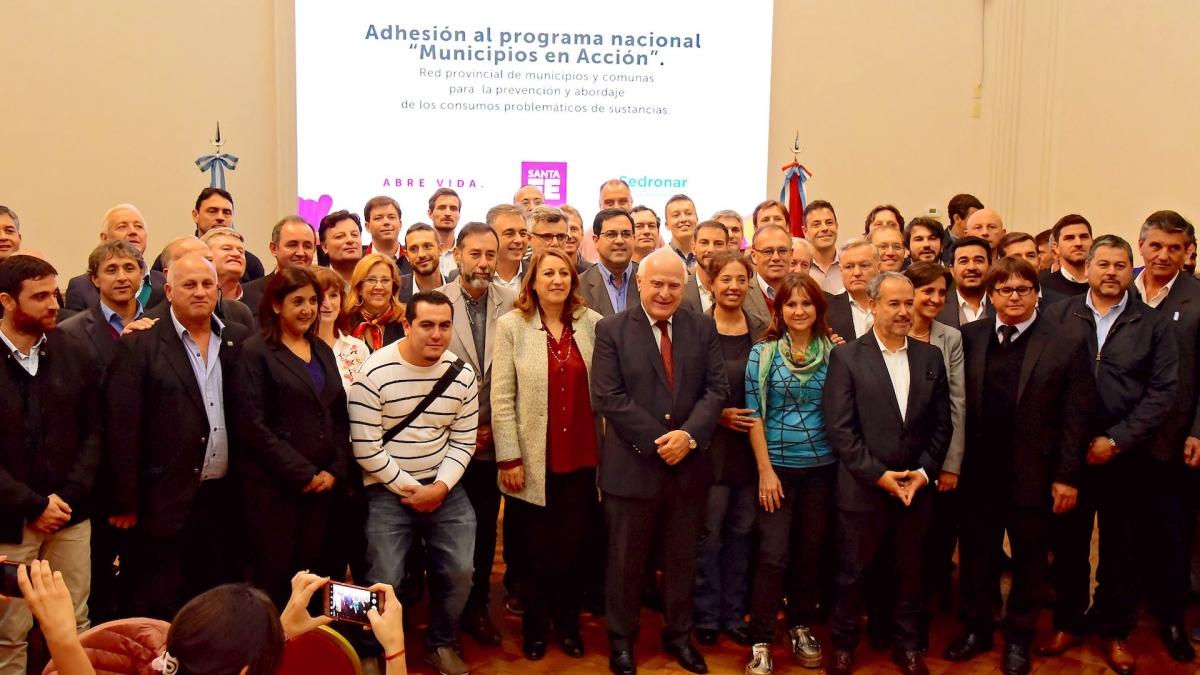 Santa Fe se adhirió al programa Municipios en Acción implementado por Sedronar