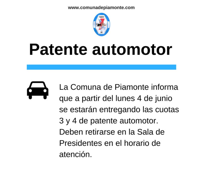 Patente automotor