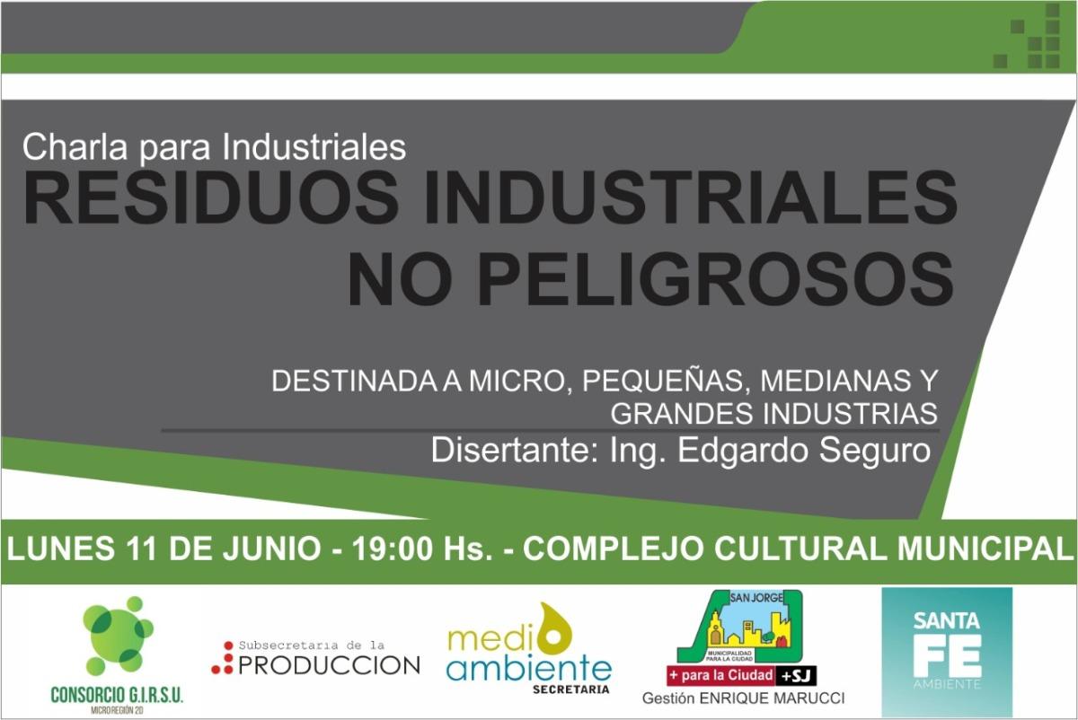 Charla en San Jorge sobre residuos industriales no peligrosos