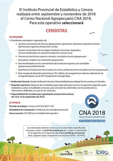 Afiche CNA 2018 Censistas
