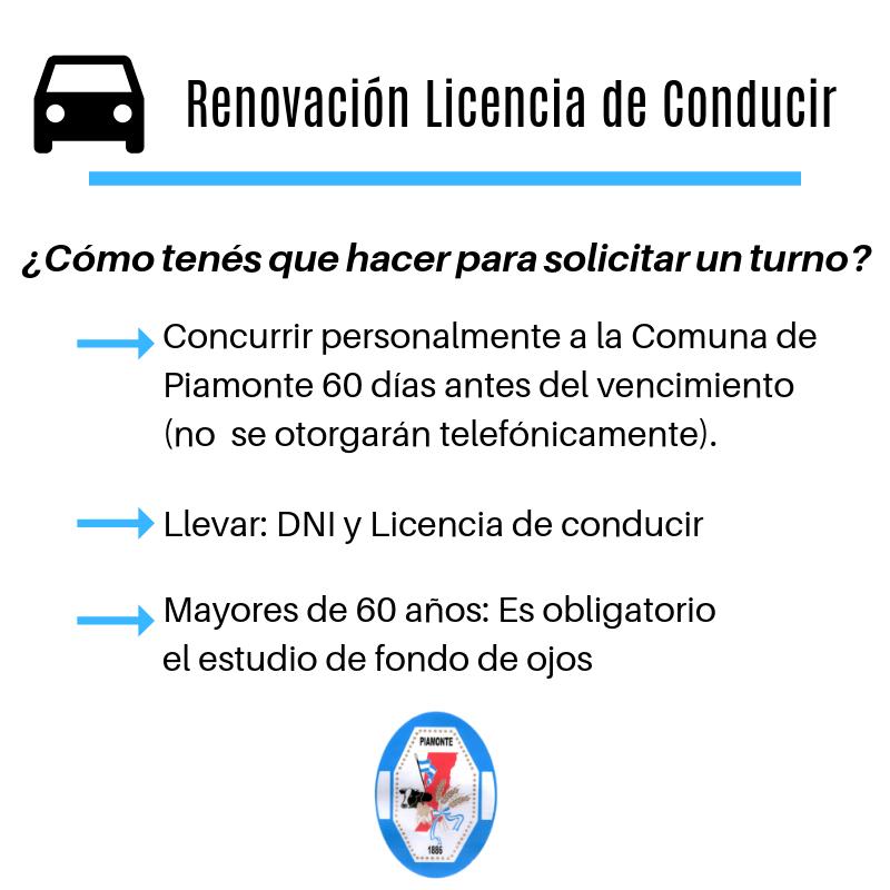 Renovación Licencia de Conducir
