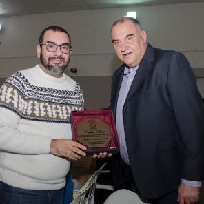 Bongiovanni junto a Walter Cabrera, en representación de la senadora departamental, Cristina Berra.