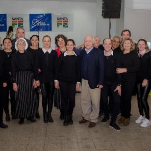 El Grupo de apoyo junto al Gobernador y al Ministro de Economía.