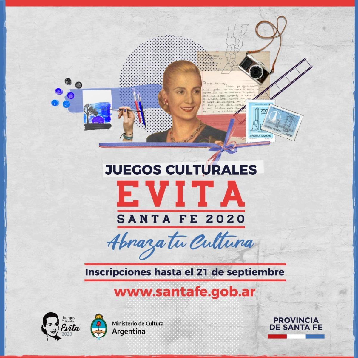 Participá de los Juegos Culturales Evita Santa Fe 2020 – COMUNA DE PIAMONTE